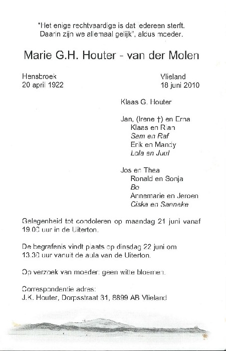 Marie Guurtruida Helana van der Molen